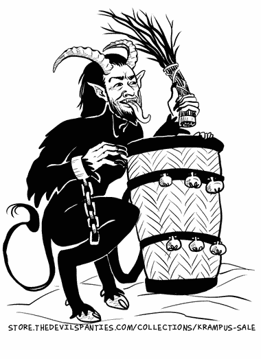 Stocking up on Schnapps to bribe Krampus.